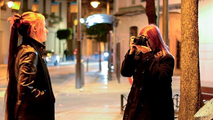 El retrato urbano nocturno
