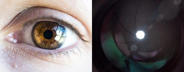 funciona de manera similar a como lo hace el iris de nuestro ojo.