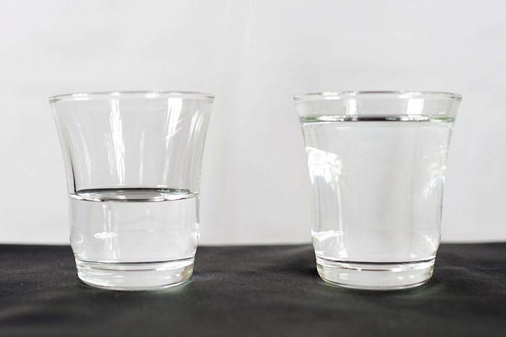 Metáfora del vaso del agua