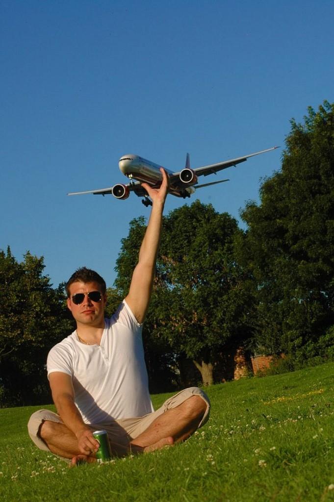 Cogiendo un avión