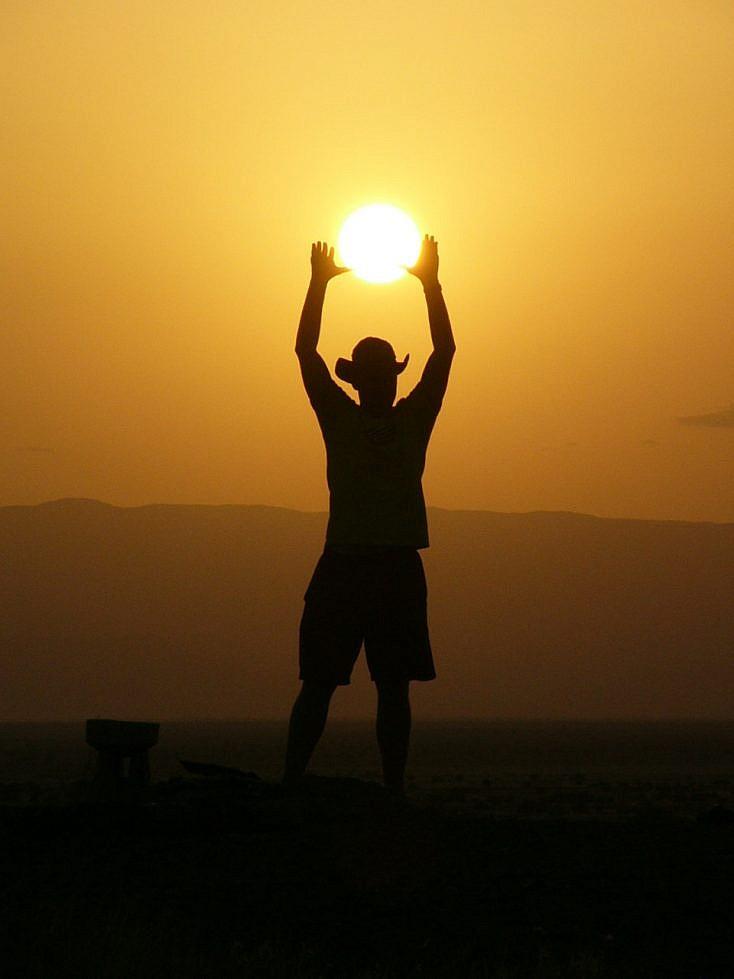 Cogiendo el sol